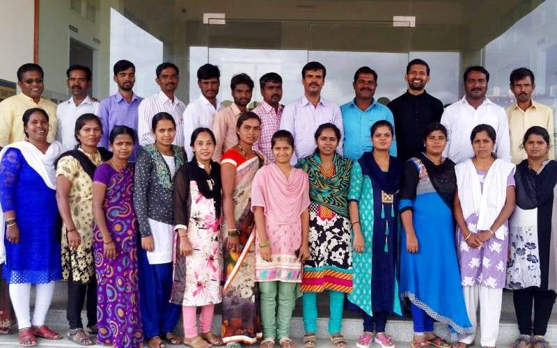 Staff training at Chithra Don Bosco