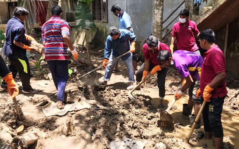 The cleaning mission by Don Bosco, Trivandrum
