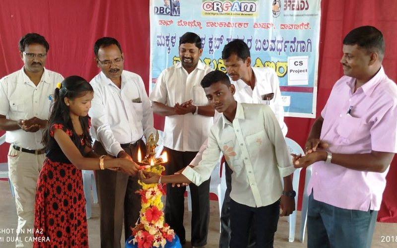 Leadership training for leaders of child rights clubs at Davangere