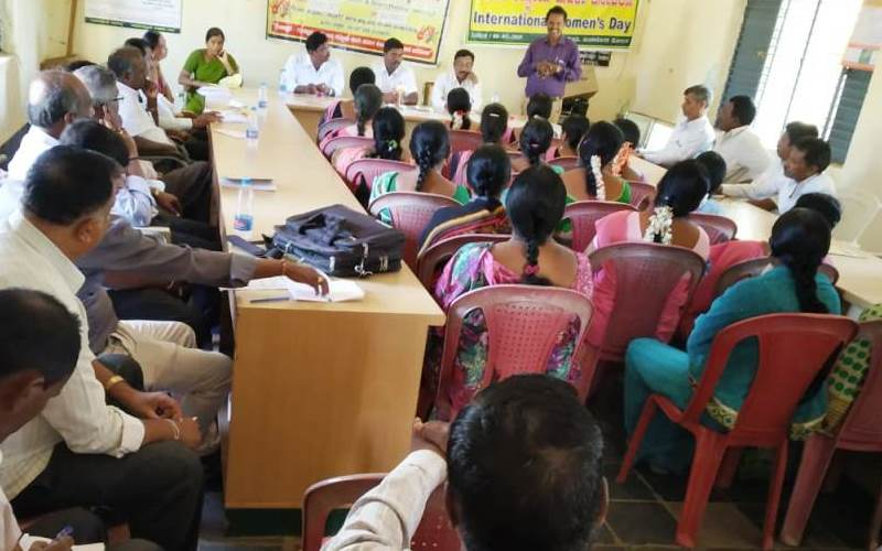 Formation of Child Protection Committee at Kodagnuru Grama panchayath in Davangere district, Karnataka