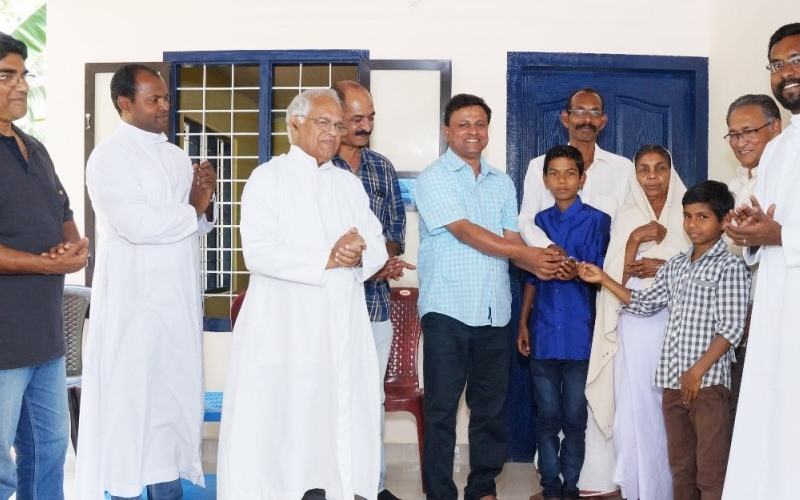 Blessing of the first house constructed by BREADS at Sultan Bathery for the flood victims