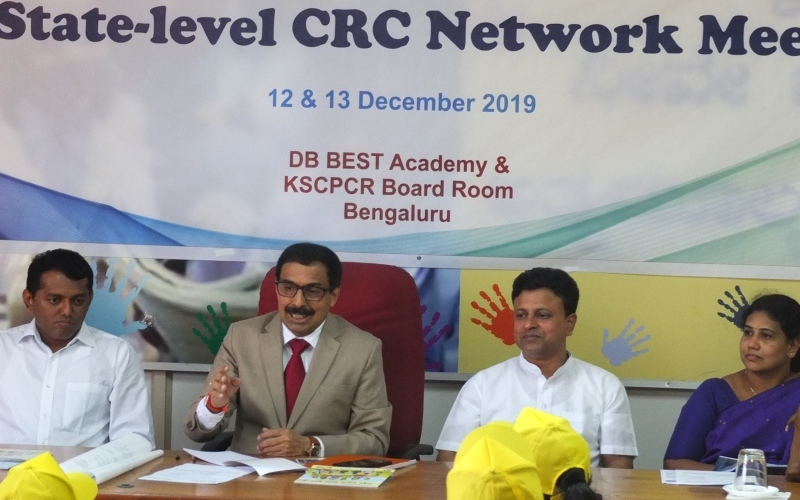 State-level Child Rights Clubs Network Meeting on 13 December 2019 at KSCPCR Office, Bangalore